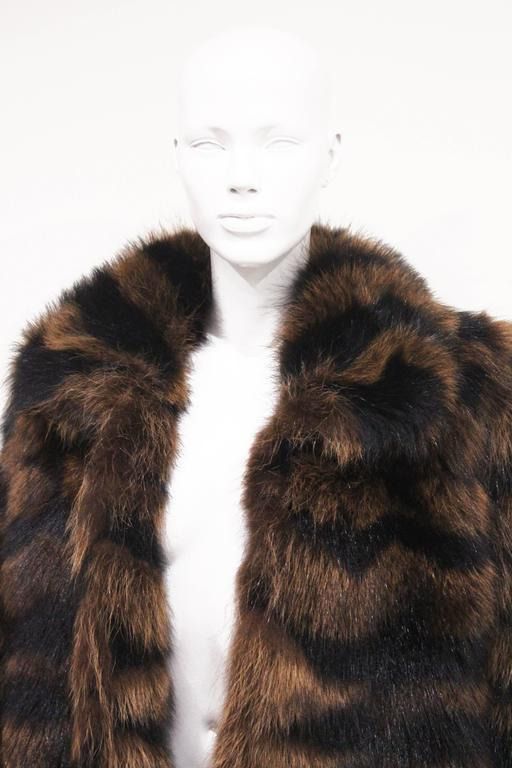 Exceptional Yves Saint Laurent Beaver Fur Coat c. 1980s 3