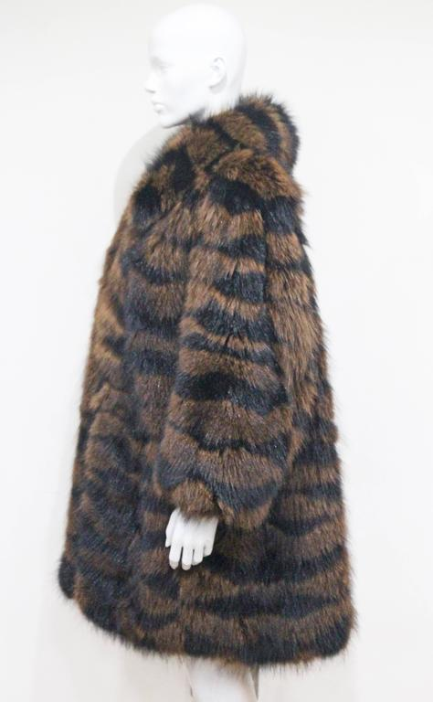 Exceptional Yves Saint Laurent Beaver Fur Coat c. 1980s 4