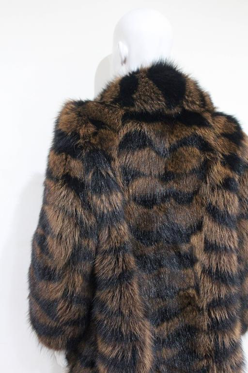 Exceptional Yves Saint Laurent Beaver Fur Coat c. 1980s 5