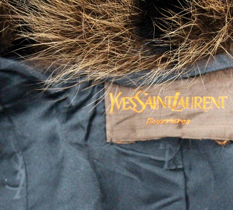 Exceptional Yves Saint Laurent Beaver Fur Coat c. 1980s 6