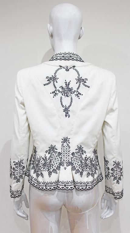Women's Alexander McQueen embroidered tailored 'Sarabande' jacket, c. 2007 For Sale