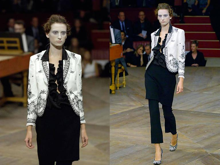 Gray Alexander McQueen embroidered tailored 'Sarabande' jacket, c. 2007 For Sale