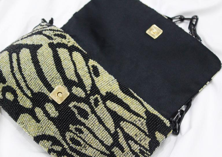 Black Tom Ford for Gucci beaded evening bag, c. 2000 For Sale