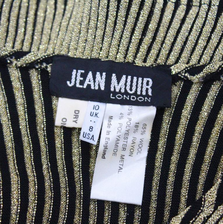 Jean Muir lurex rib knit body-con sweater, c. 1970s For Sale 1
