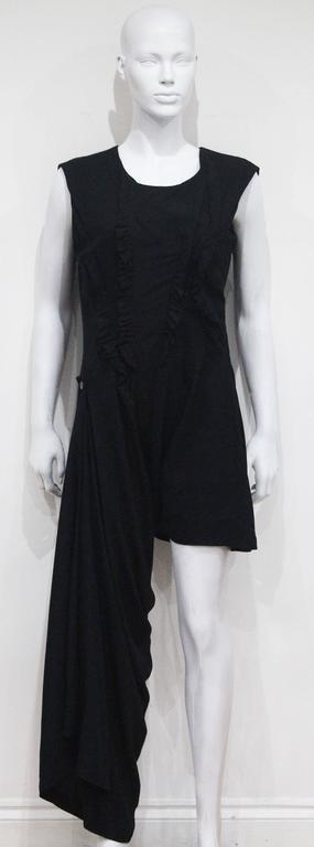 Early Comme des Garcons black asymmetric jumpsuit, c. 1980s 2