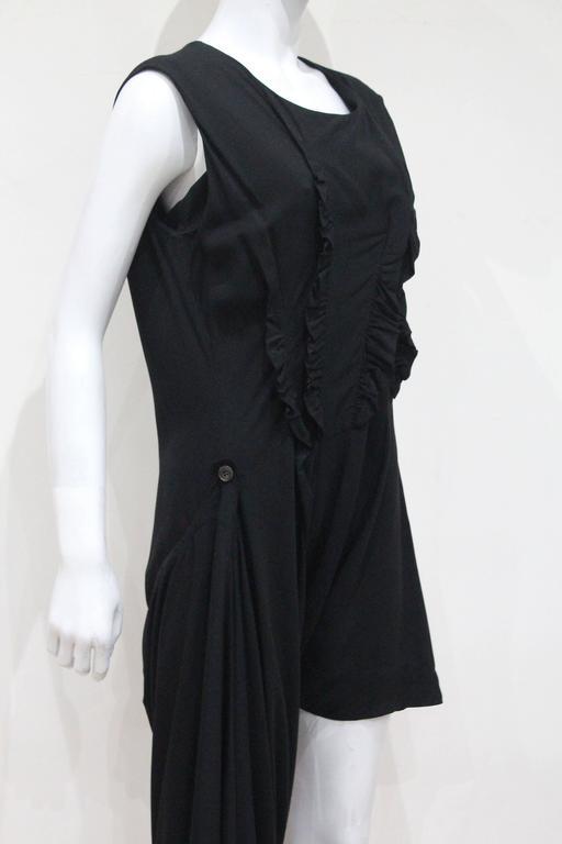 Early Comme des Garcons black asymmetric jumpsuit, c. 1980s 3