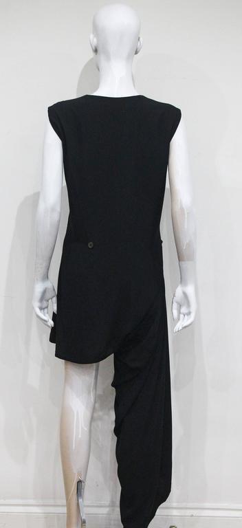Early Comme des Garcons black asymmetric jumpsuit, c. 1980s 4