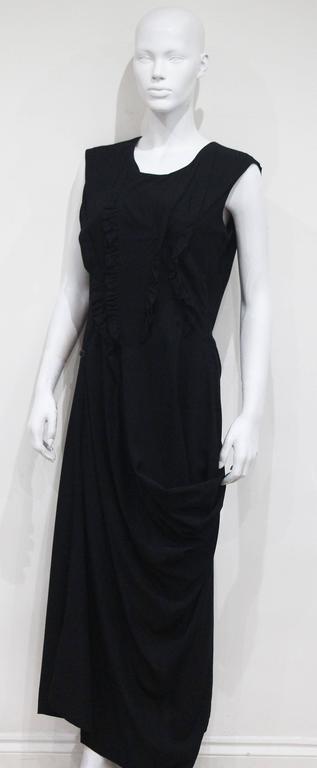 Early Comme des Garcons black asymmetric jumpsuit, c. 1980s 5