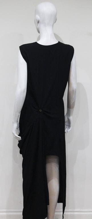 Early Comme des Garcons black asymmetric jumpsuit, c. 1980s 6