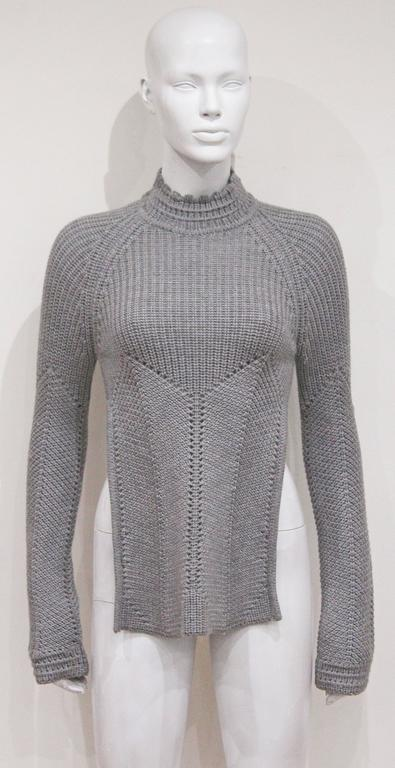 Early Alexander McQueen backless knitted sweater, c. 1990s  2