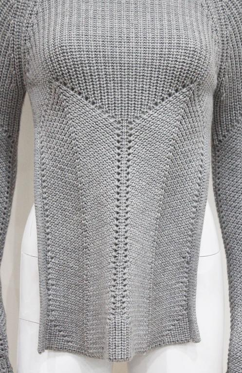 Early Alexander McQueen backless knitted sweater, c. 1990s  3