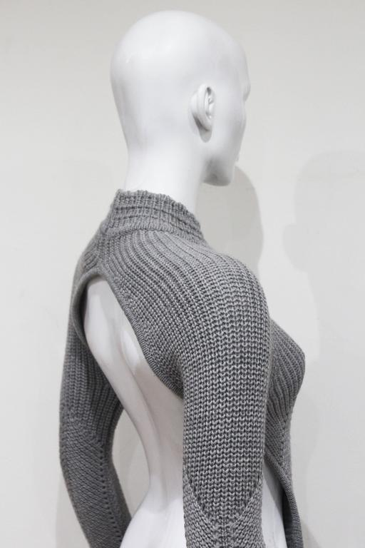 Early Alexander McQueen backless knitted sweater, c. 1990s  6