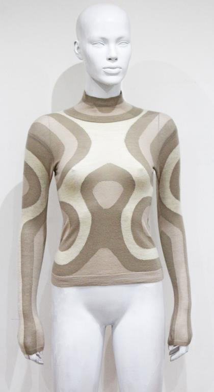 Alexander McQueen cashmere contoured fitted sweater, c. 2004  2