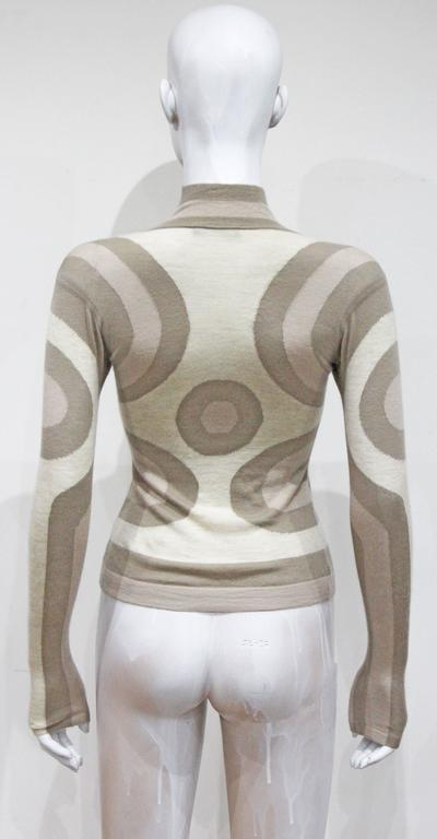 Alexander McQueen cashmere contoured fitted sweater, c. 2004  3