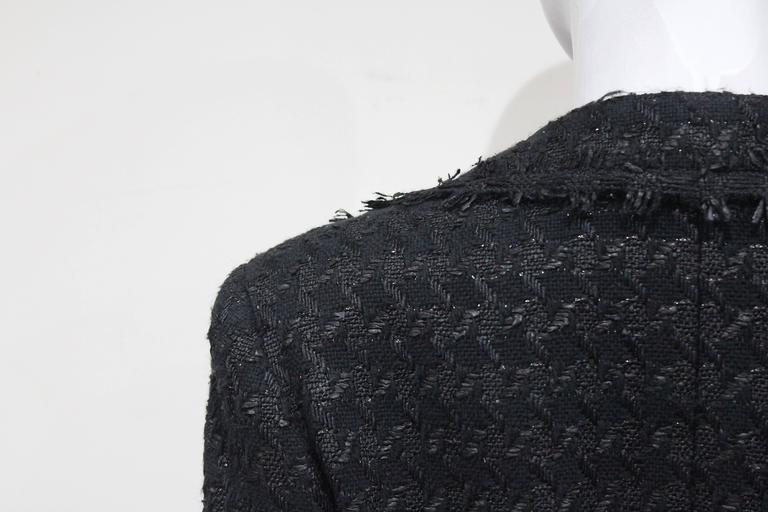Chanel low plunge fantasy tweed black jacket, c. 2005 5