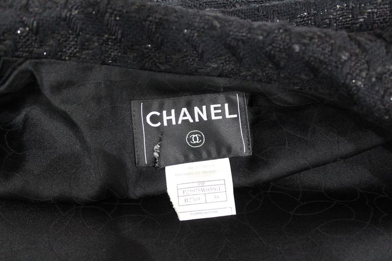 Chanel low plunge fantasy tweed black jacket, c. 2005 6