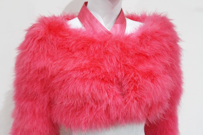 Tom Ford for Gucci Hot Pink Marabou Bolero, c. 2004 3