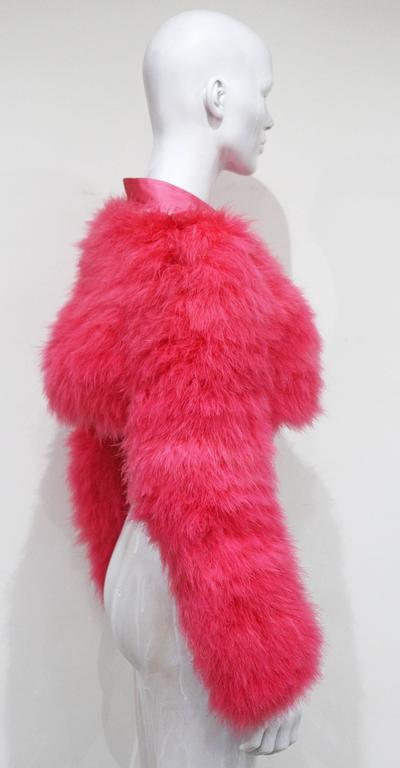 Women's Tom Ford for Gucci Hot Pink Marabou Bolero, c. 2004 For Sale
