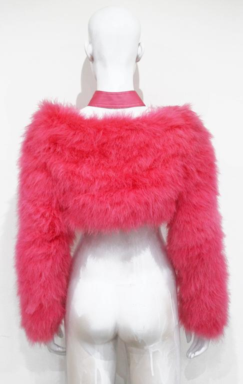 Tom Ford for Gucci Hot Pink Marabou Bolero, c. 2004 For Sale 1