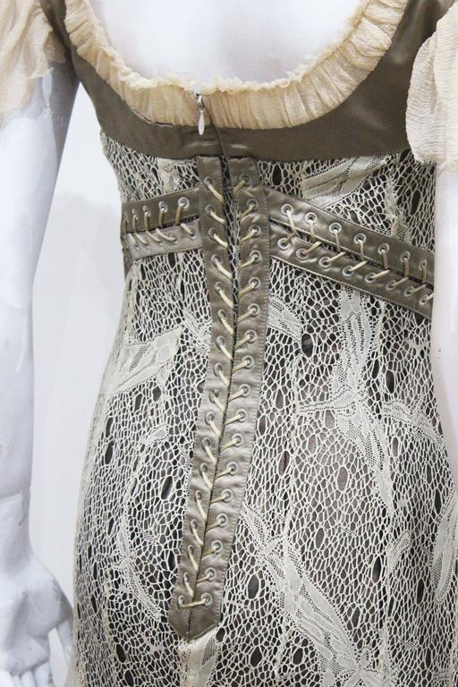 Alexander McQueen corset lace and chiffon cocktail dress, c. 2002  6