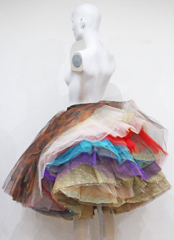 Vivienne Westwood Super voluminous layered tulle skirt, c. 1993  In Excellent Condition For Sale In London, GB