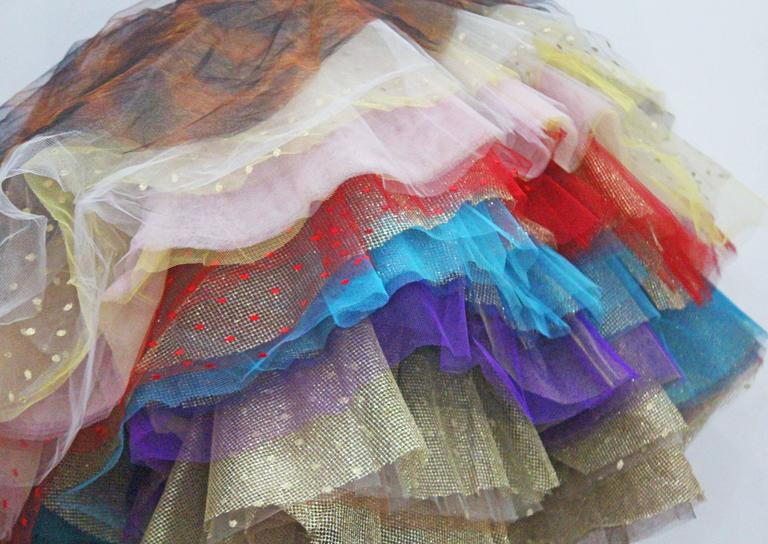 Brown Vivienne Westwood Super voluminous layered tulle skirt, c. 1993  For Sale