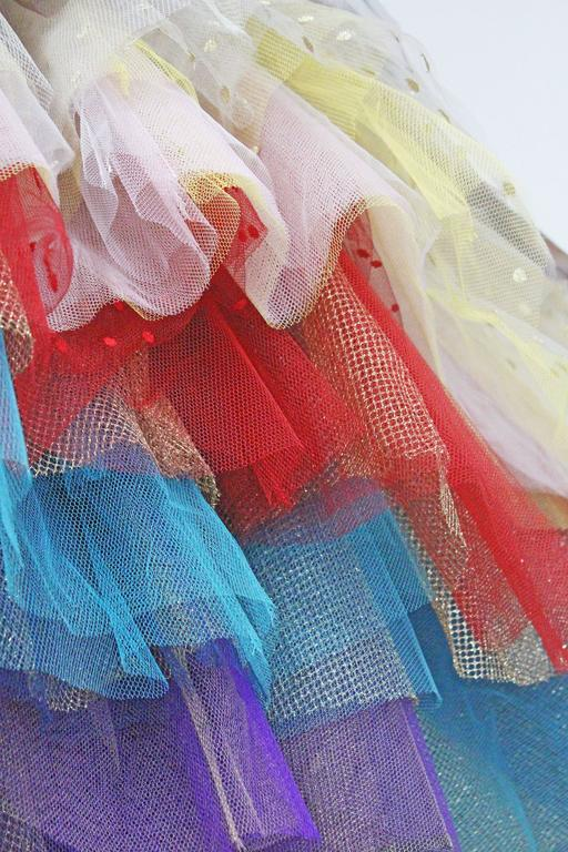 Vivienne Westwood Super voluminous layered tulle skirt, c. 1993  For Sale 2