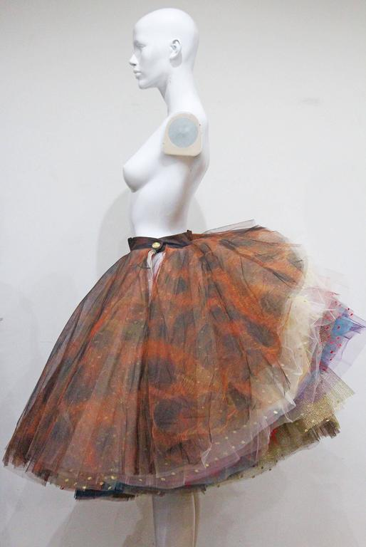 Vivienne Westwood Super voluminous layered tulle skirt, c. 1993  For Sale 1