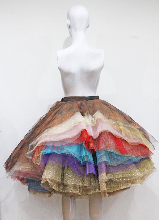 Women's Vivienne Westwood Super voluminous layered tulle skirt, c. 1993  For Sale