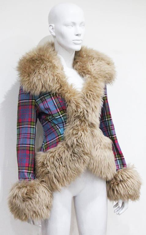 Vivienne Westwood tartan and sheepskin jacket, c. 1993  2