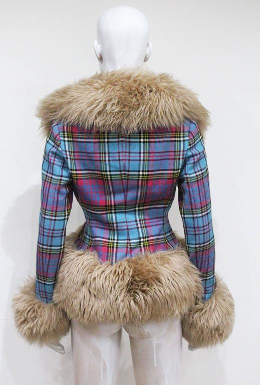 Vivienne Westwood tartan and sheepskin jacket, c. 1993  3