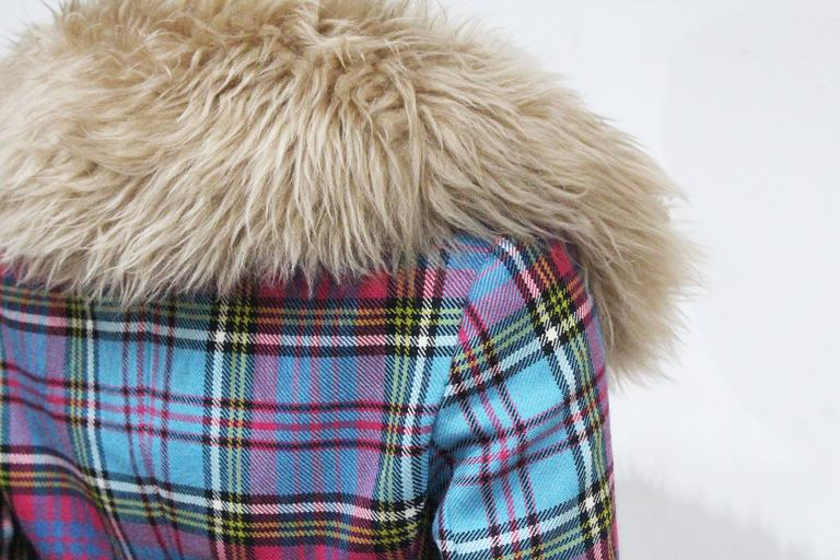 Vivienne Westwood tartan and sheepskin jacket, c. 1993  4