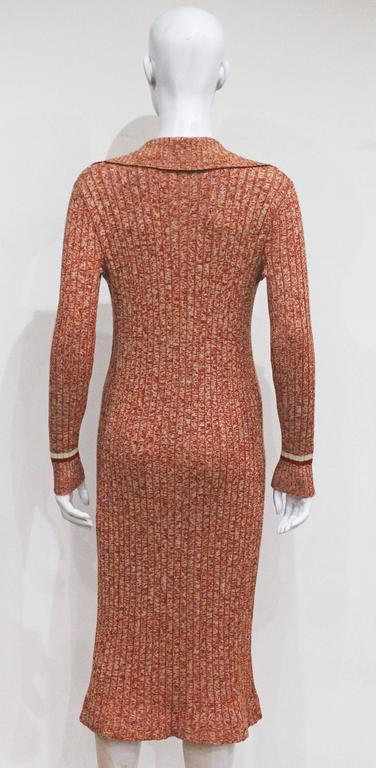 Celine nautical style rib knit dress, c. 1970s 5