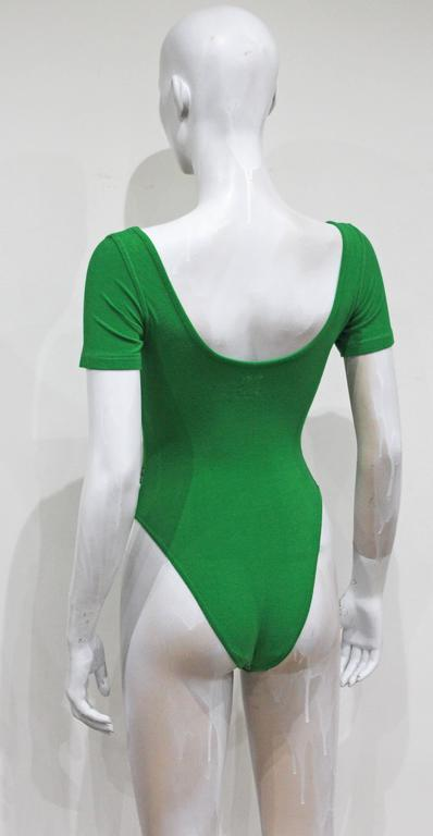 Moschino teddy bear green leotard, c. 1990s  5