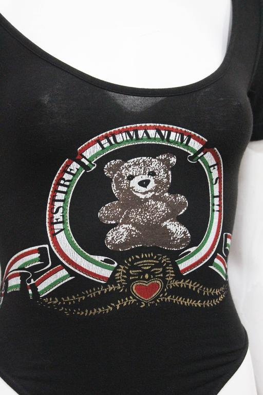 Moschino Teddy Bear Black Leotard, C. 1990S 3