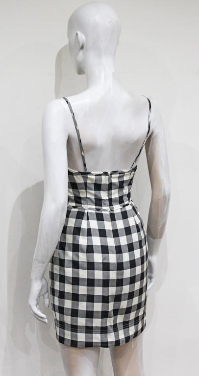 Moschino gingham mini dress, c. 1990s In Excellent Condition For Sale In London, GB