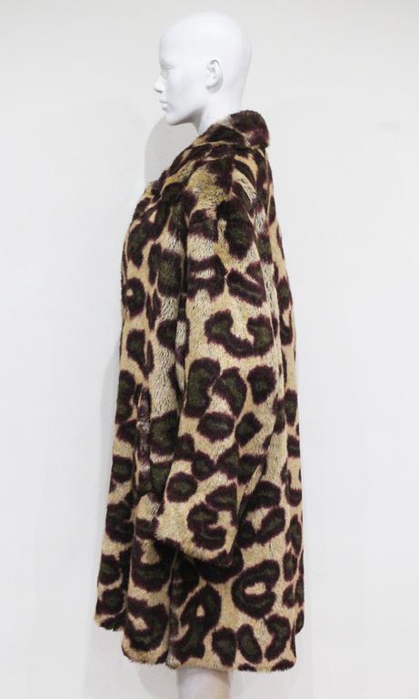 Vivienne Westwood Men's faux fur cheetah print coat, c. 1989 For Sale 1