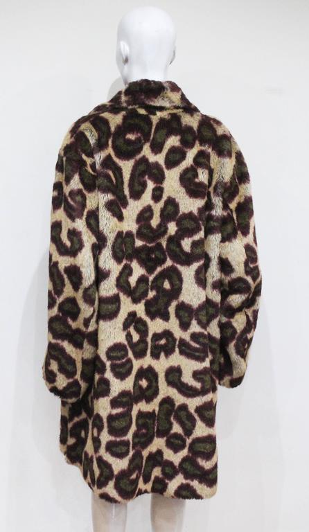 Vivienne Westwood Men's faux fur cheetah print coat, c. 1989 For Sale 2