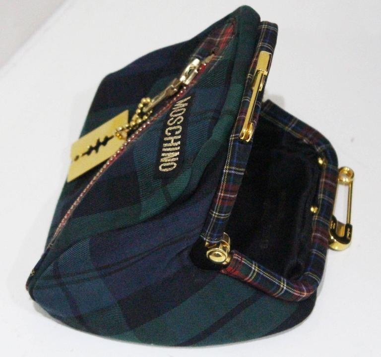 Moschino tartan Punk Chic! large tote bag with purse, c. 1990s  For Sale 1
