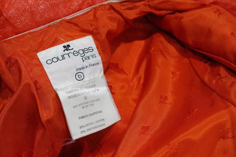 Courreges orange vinyl coat dress, c. 1970 7