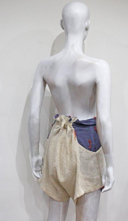 Women's or Men's World's End by Vivienne Westwood and Malcolm Mclaren 'Savage Shorts', c. 1982 For Sale