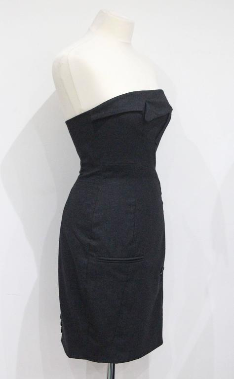 Moschino Couture Deconstructed Suit Strapless Dress, c. 1993 2