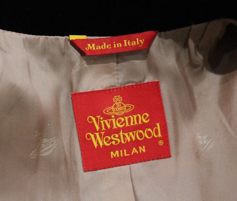 Vivienne Westwood tartan and velvet tailored jacket, c. 1994  For Sale 2