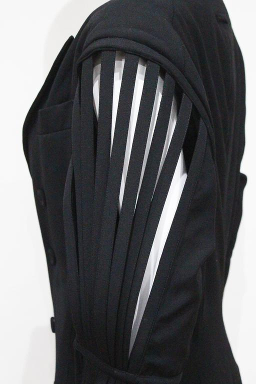 Jean Paul Gaultier double breasted blazer jacket with caged sleeves, c. 1989 For Sale 3