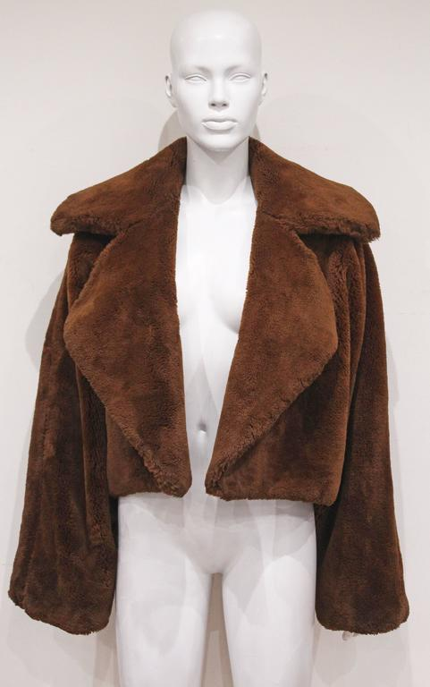 Oversized teddy bear faux fur bolero jacket, c. 1990s  5