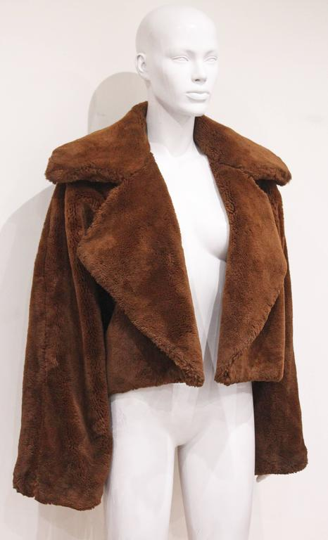 Oversized teddy bear faux fur bolero jacket, c. 1990s  2