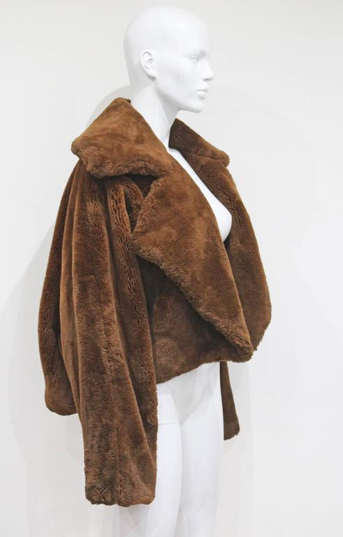 Oversized teddy bear faux fur bolero jacket, c. 1990s  3