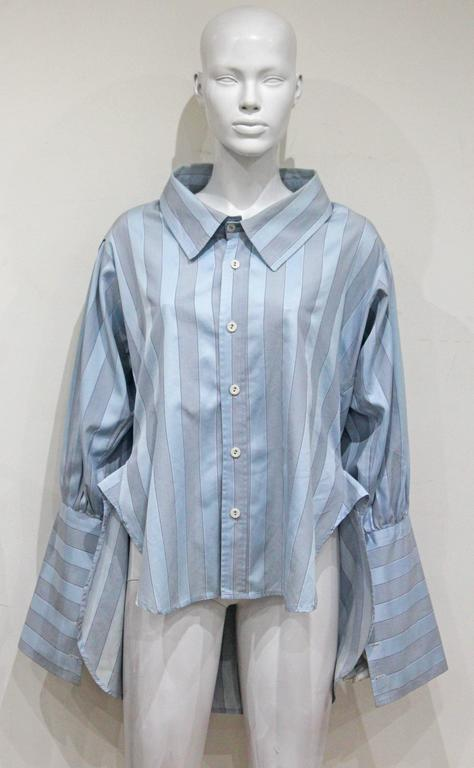 Worlds End by Vivienne Westwood and Malcolm McLaren oversized shirt, c. 1981 For Sale 1