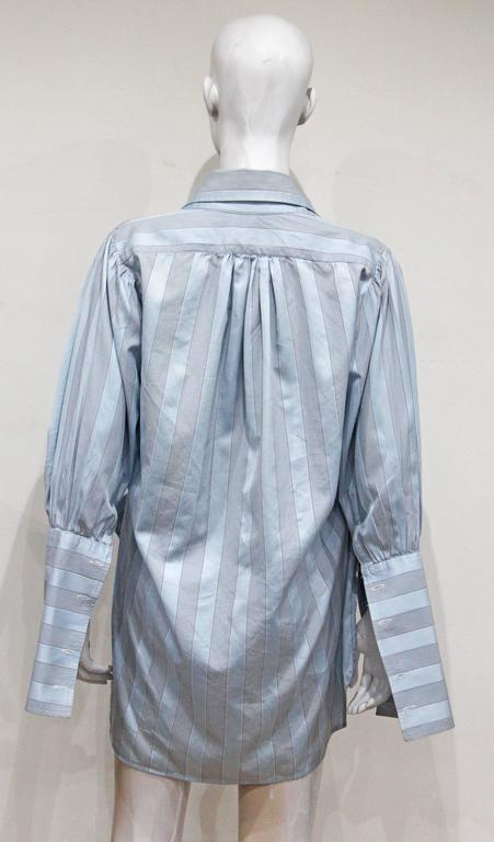 Women's or Men's Worlds End by Vivienne Westwood and Malcolm McLaren oversized shirt, c. 1981 For Sale