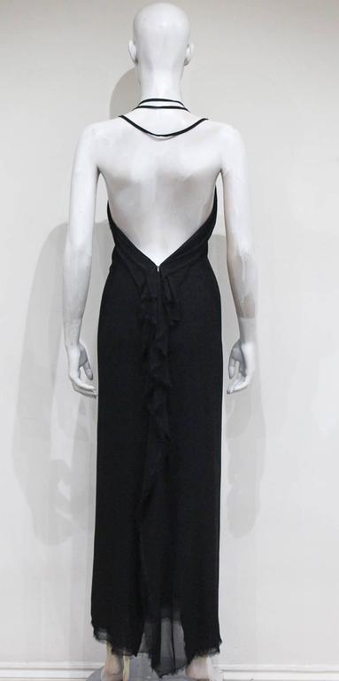 Black Yves Saint Laurent by Tom Ford silk chiffon black evening dress, c. 2001 For Sale
